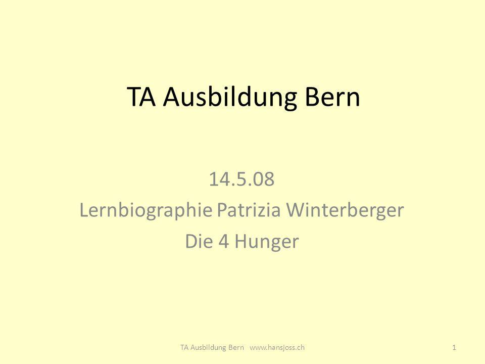 14.5.08 Lernbiographie Patrizia Winterberger Die 4 Hunger