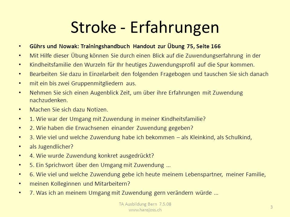 TA Ausbildung Bern 7.5.08 www.hansjoss.ch