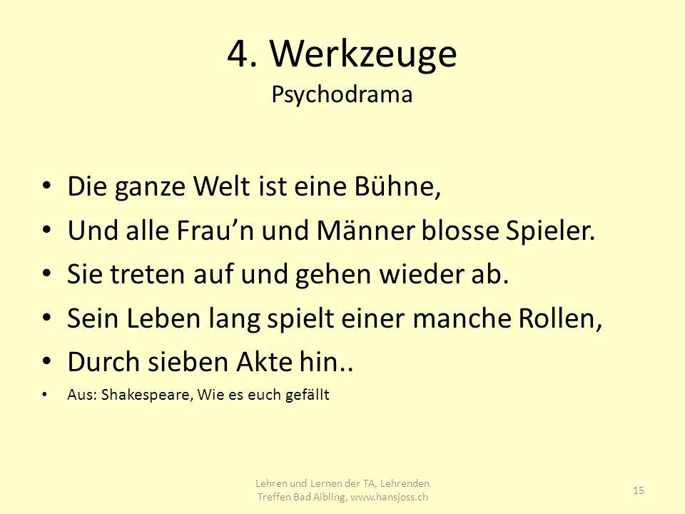 4. Werkzeuge Psychodrama