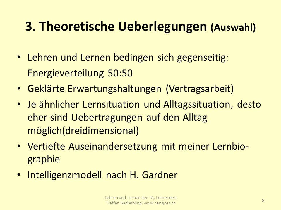 3. Theoretische Ueberlegungen (Auswahl)