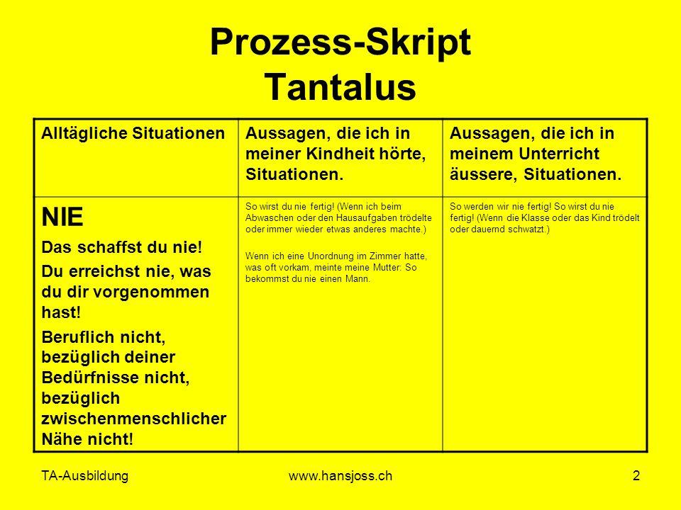 Prozess-Skript Tantalus