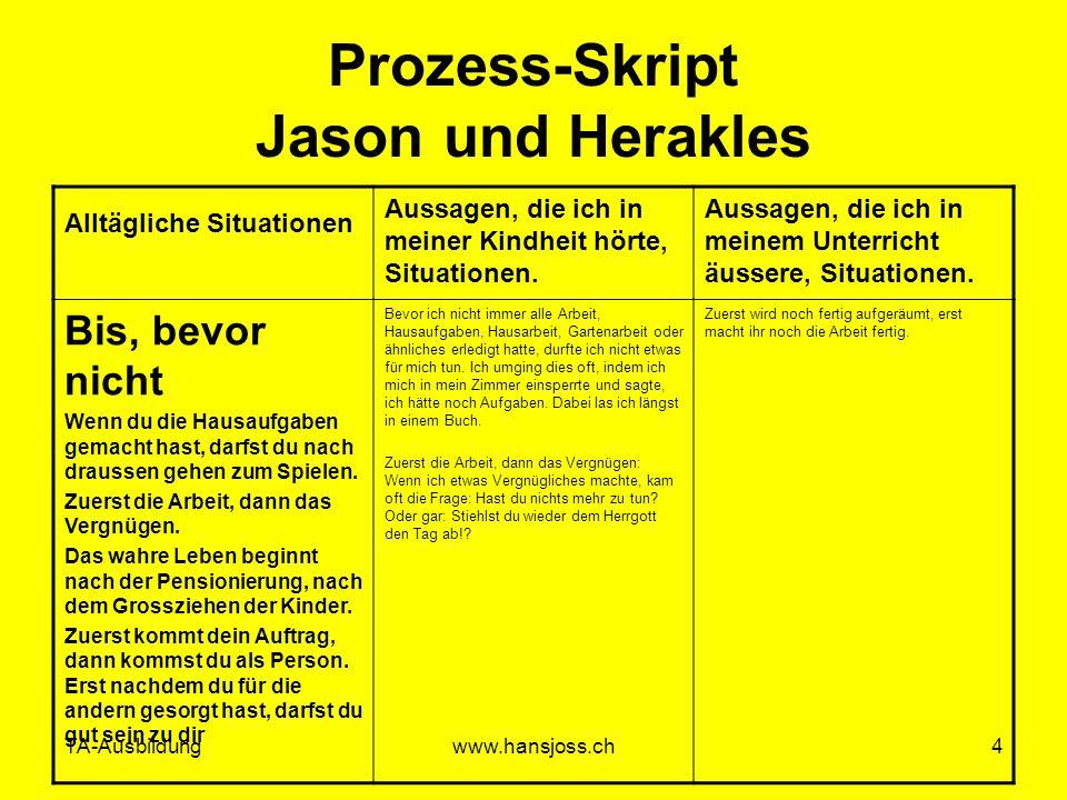 Prozess-Skript Jason und Herakles