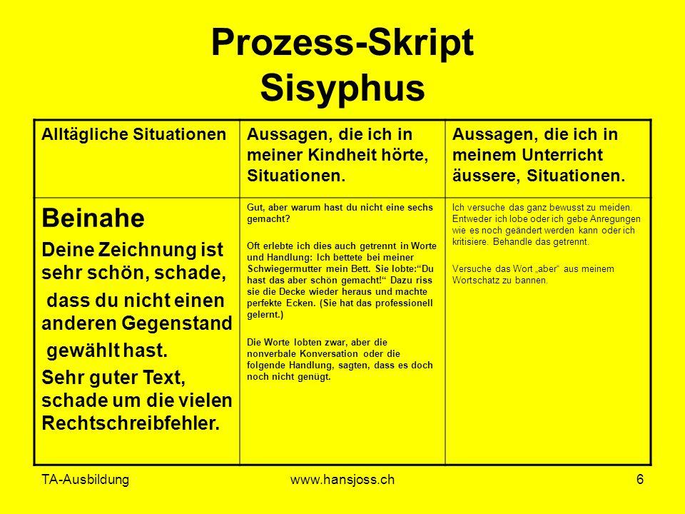 Prozess-Skript Sisyphus