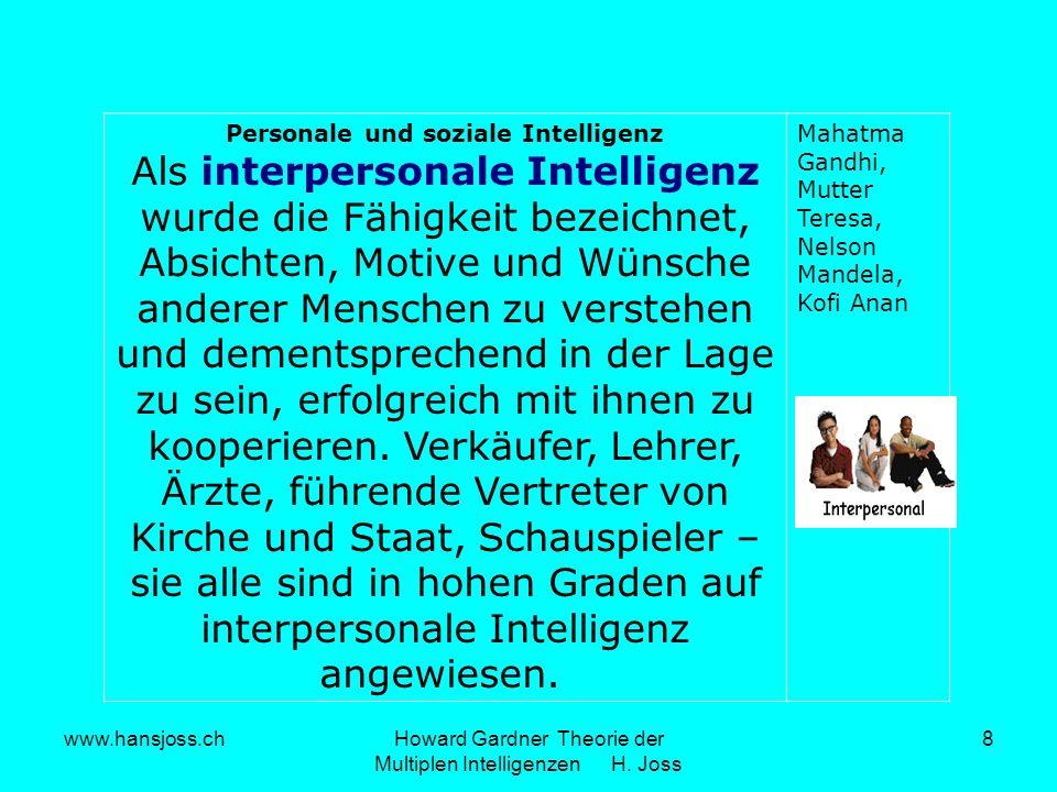 Personale und soziale Intelligenz