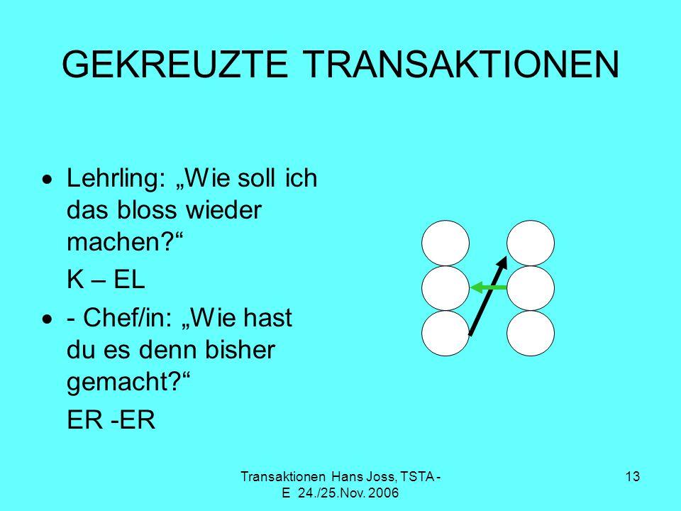 GEKREUZTE TRANSAKTIONEN