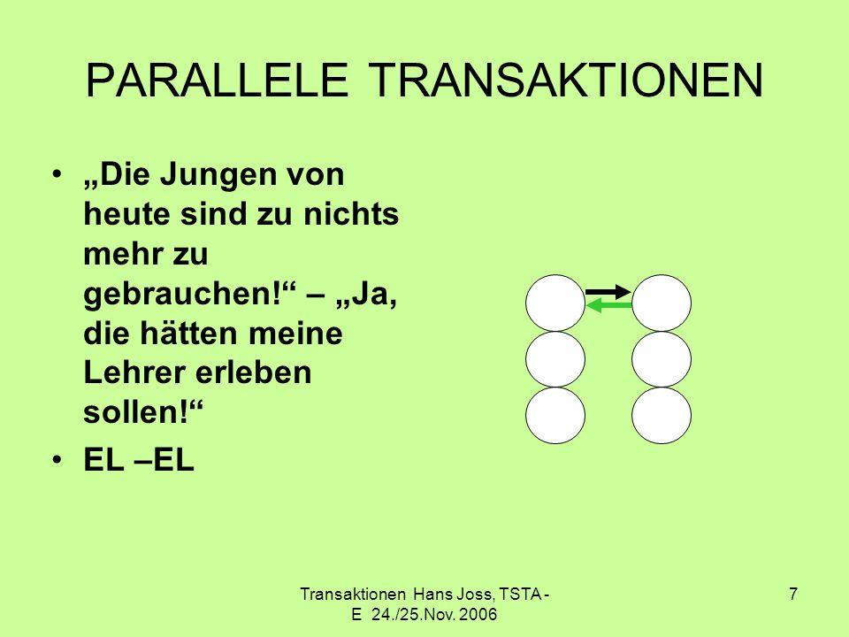 PARALLELE TRANSAKTIONEN