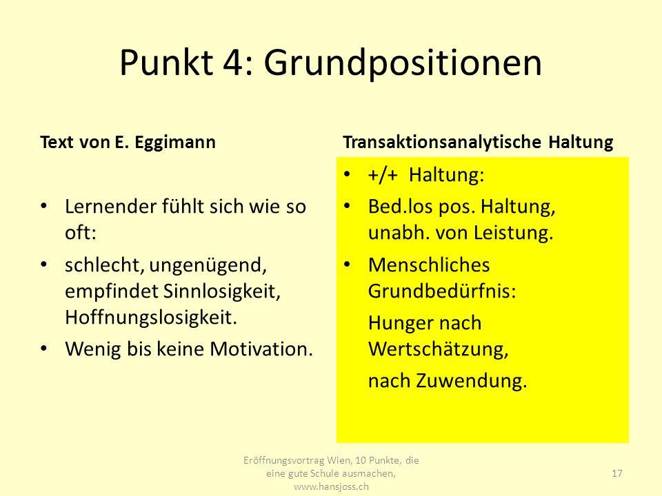 Punkt 4: Grundpositionen