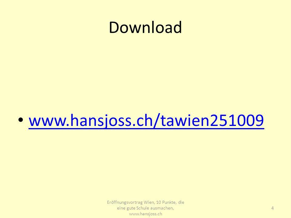 Download www.hansjoss.ch/tawien251009 www.hansjoss.ch