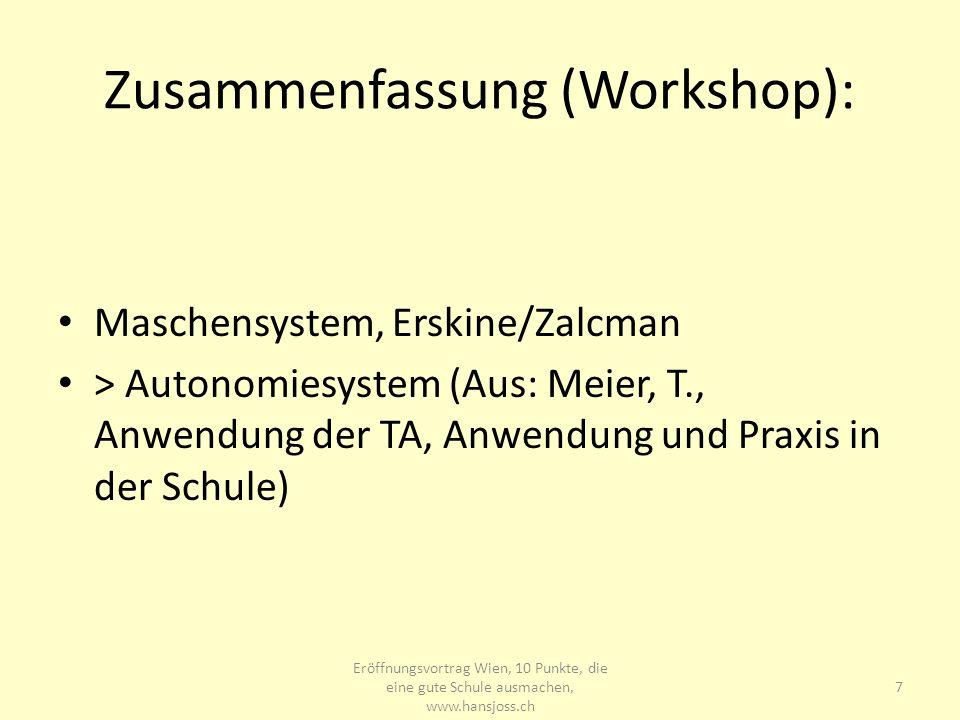 Zusammenfassung (Workshop):
