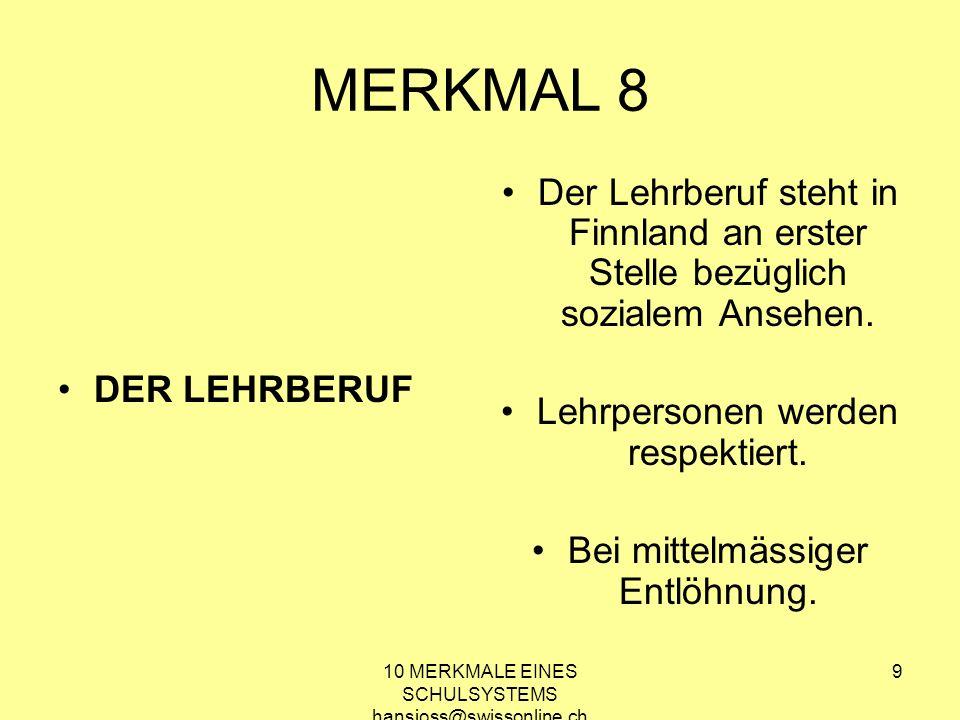 10 MERKMALE EINES SCHULSYSTEMS, DAS MENSCHEN STÄRKT