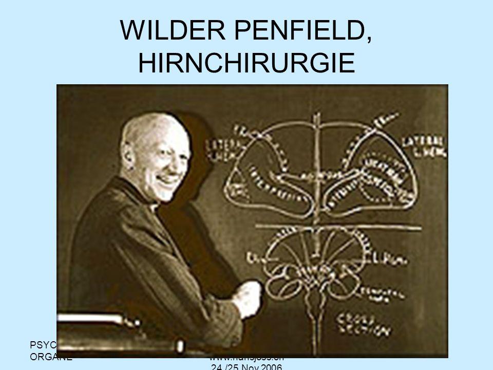 WILDER PENFIELD, HIRNCHIRURGIE