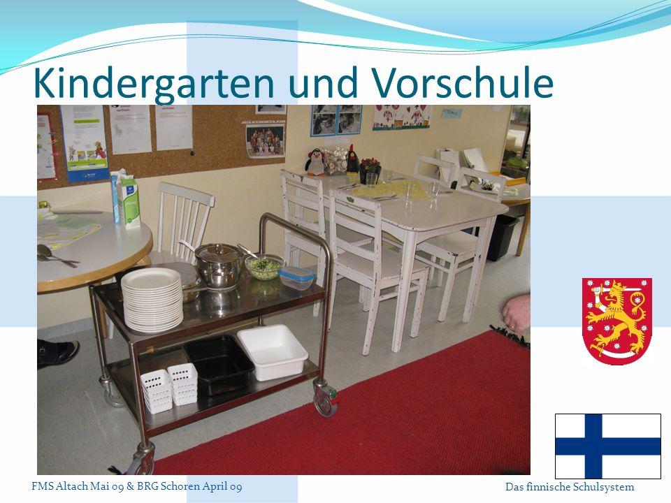 Kindergarten und Vorschule