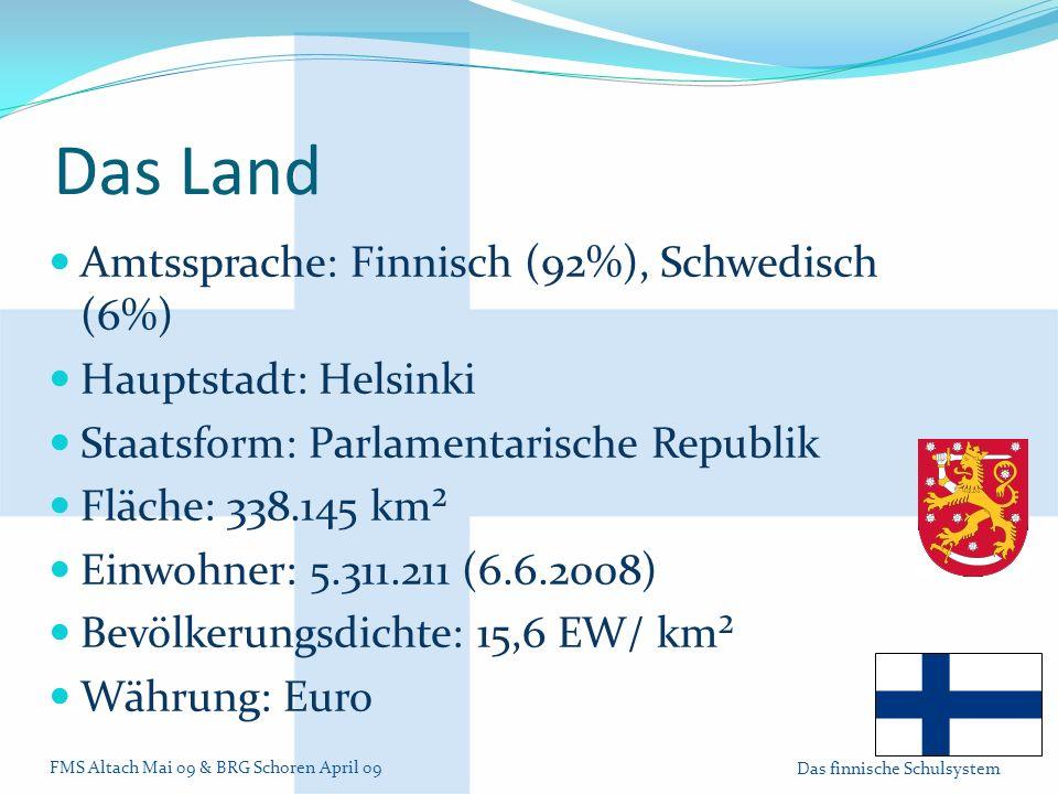 Das Land Amtssprache: Finnisch (92%), Schwedisch (6%)