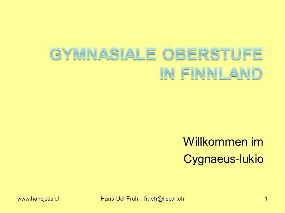 Gymnasiale Oberstufe in Finnland