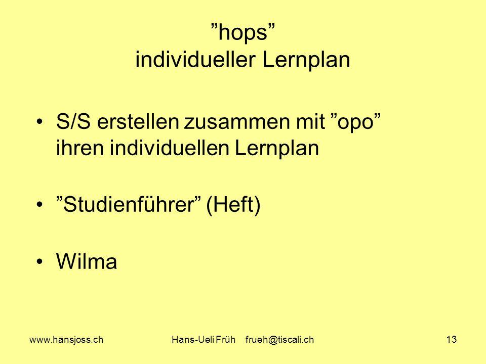 hops individueller Lernplan