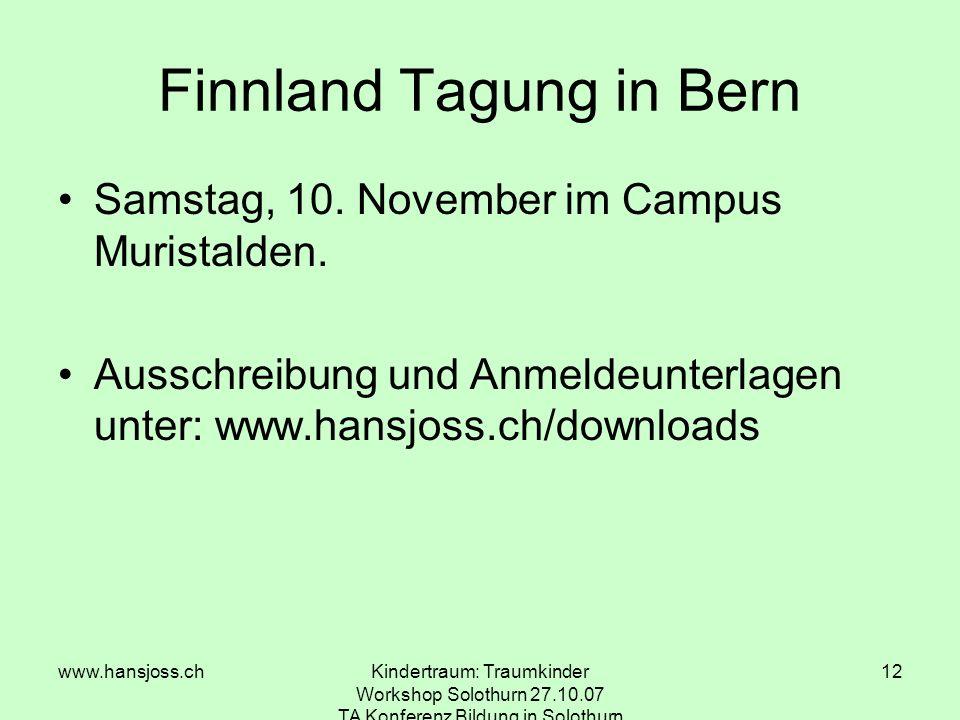 Finnland Tagung in Bern