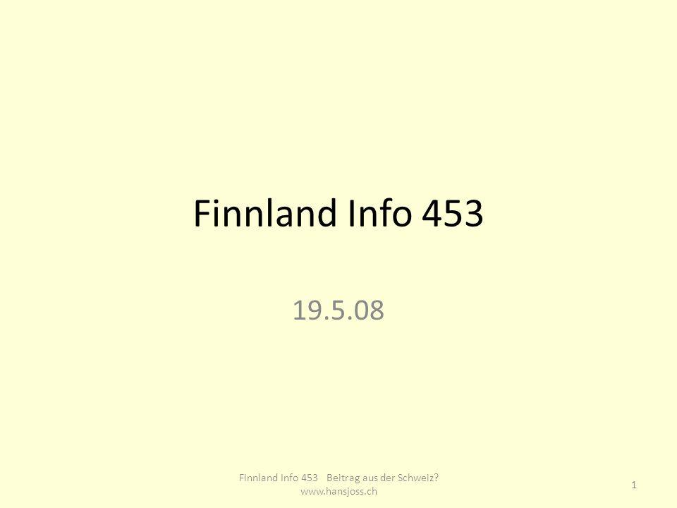 Finnland Info 261 Pädagogischer Beitrag aus der Schweiz 19.5.08