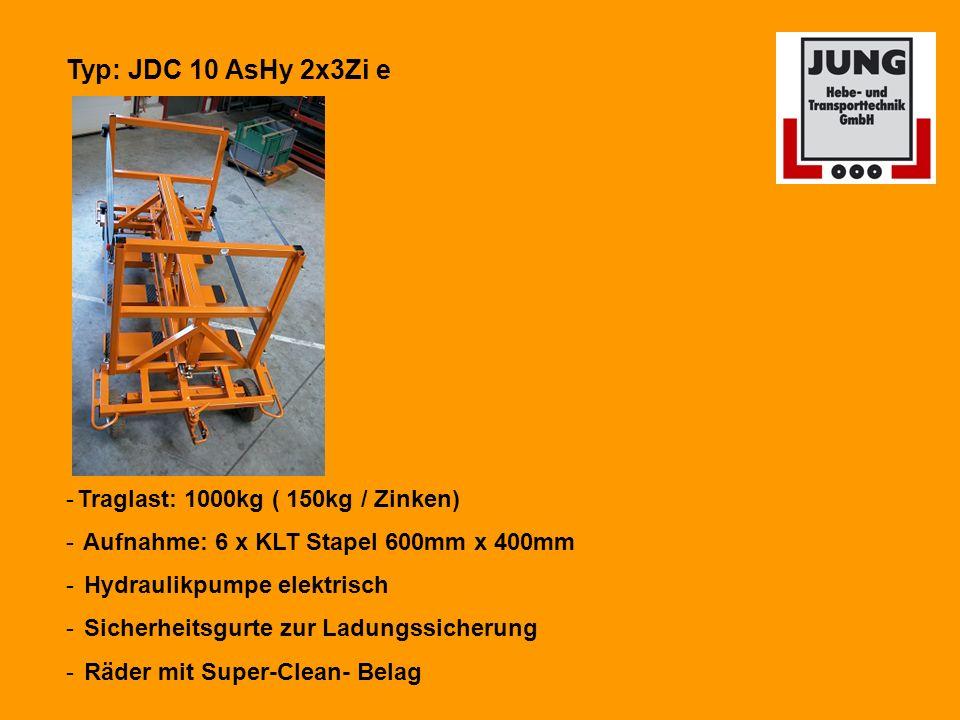Typ: JDC 10 AsHy 2x3Zi e Traglast: 1000kg ( 150kg / Zinken)