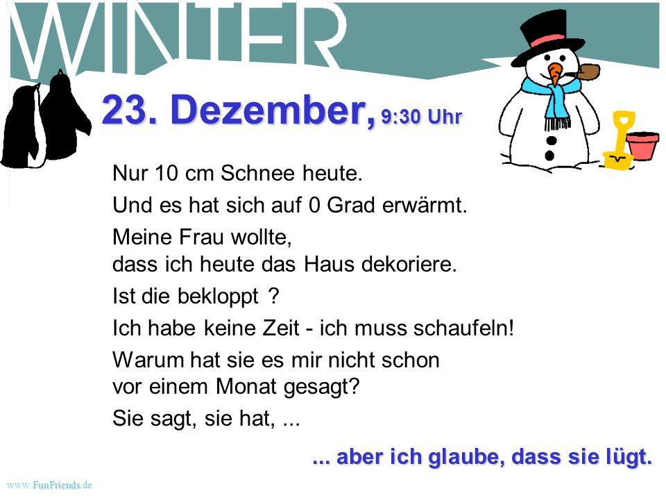23. Dezember, 9:30 Uhr Nur 10 cm Schnee heute.