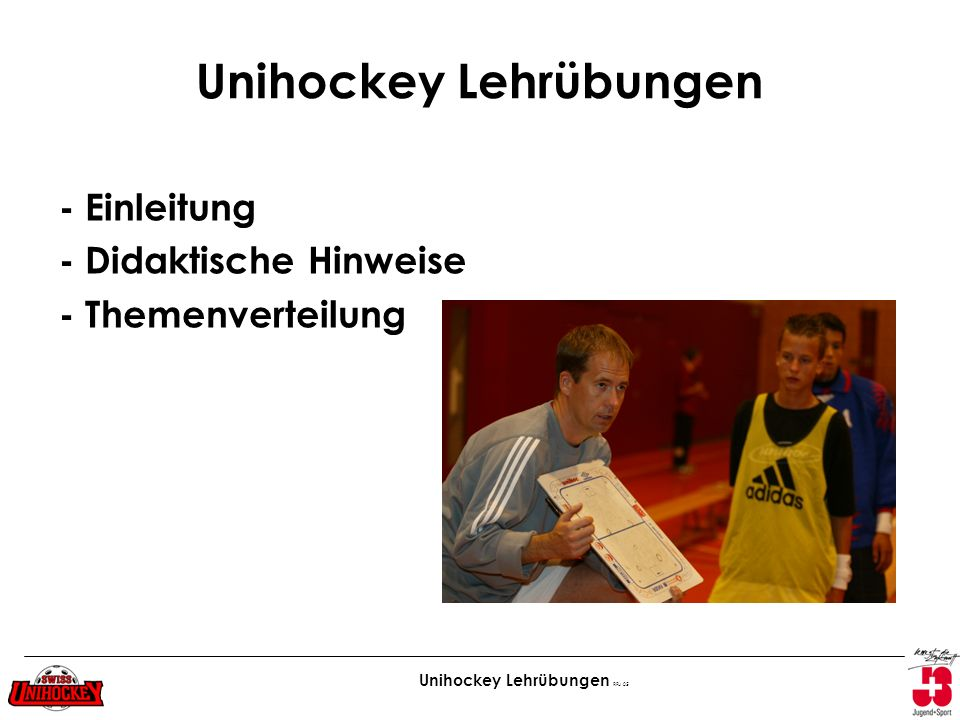 Unihockey Lehrübungen