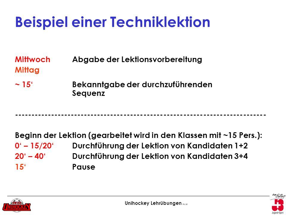 Beispiel einer Techniklektion