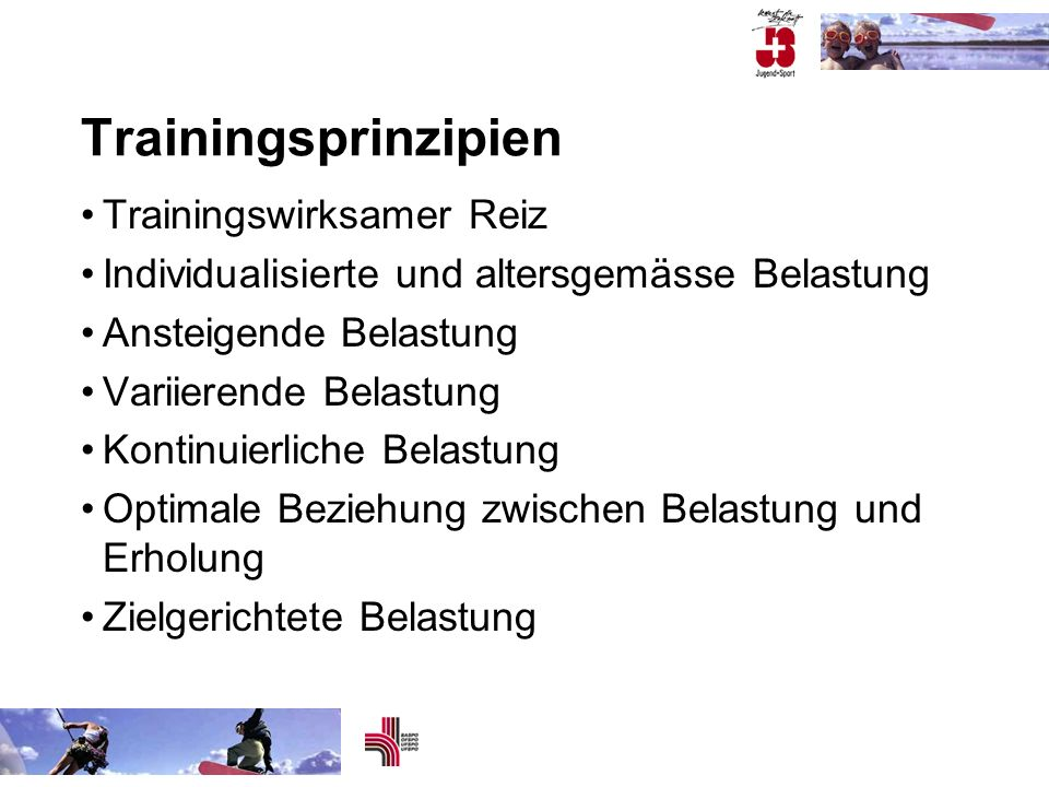Trainingsprinzipien Trainingswirksamer Reiz