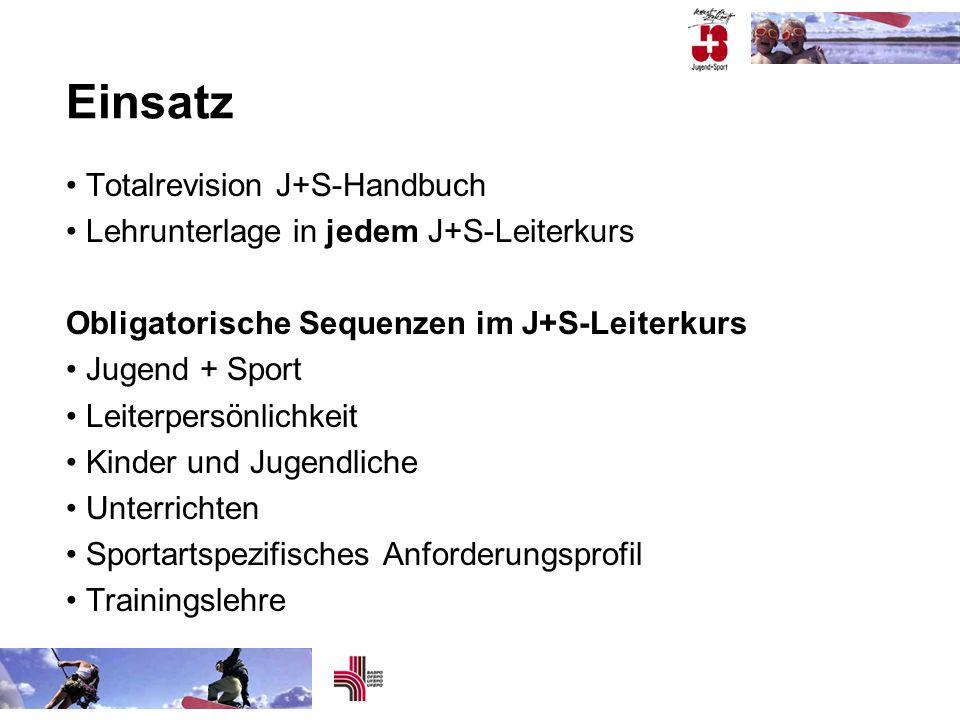 Einsatz Totalrevision J+S-Handbuch