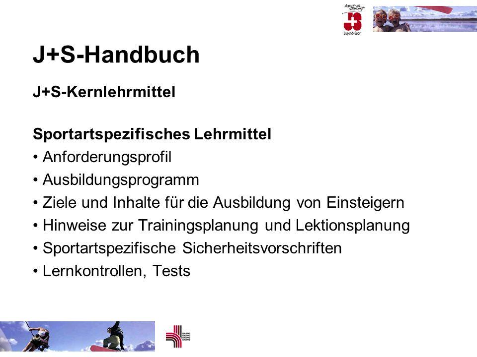 J+S-Handbuch J+S-Kernlehrmittel Sportartspezifisches Lehrmittel