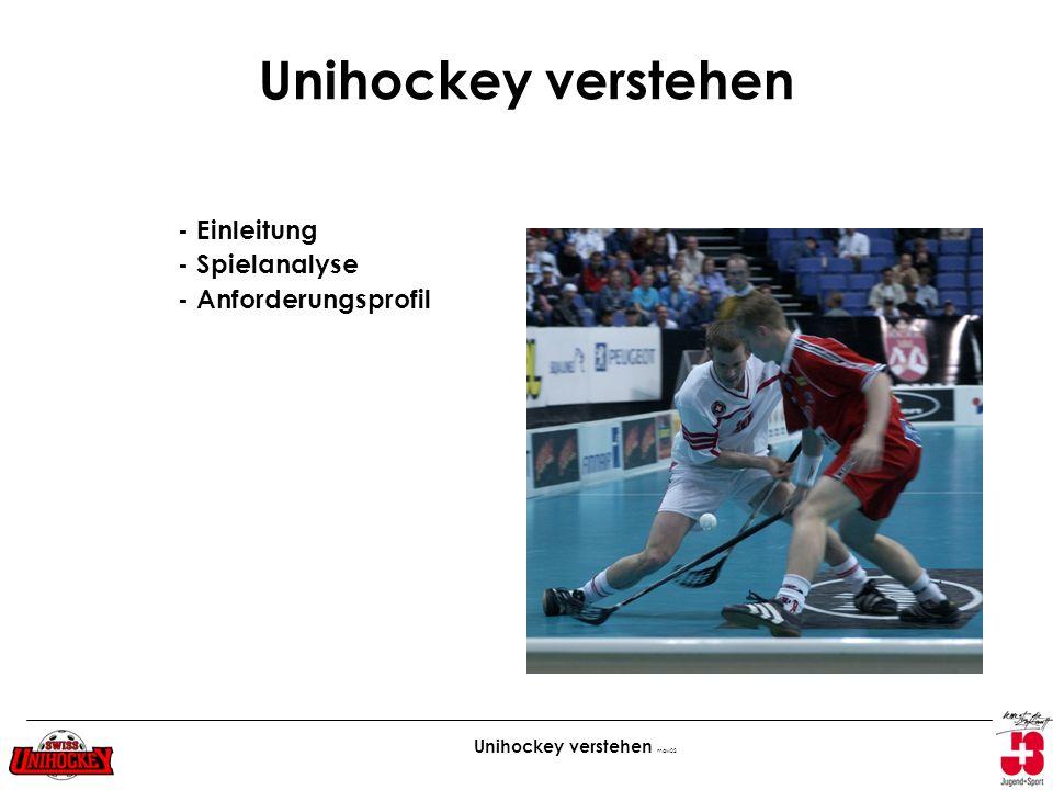 Unihockey verstehen - Einleitung - Spielanalyse - Anforderungsprofil
