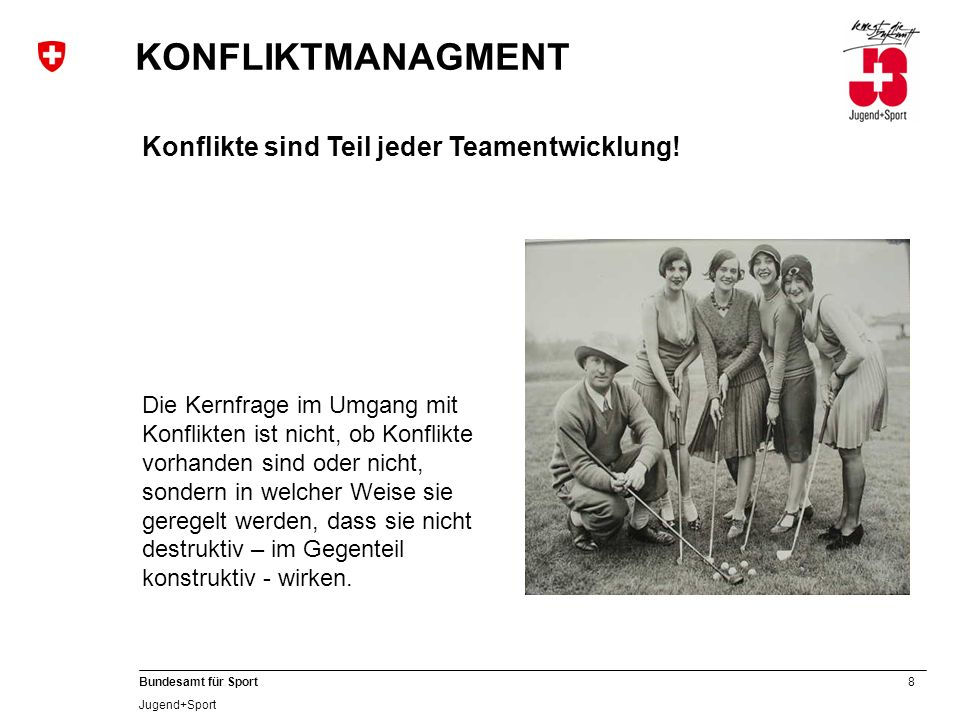 KONFLIKTMANAGMENT Konflikte sind Teil jeder Teamentwicklung!