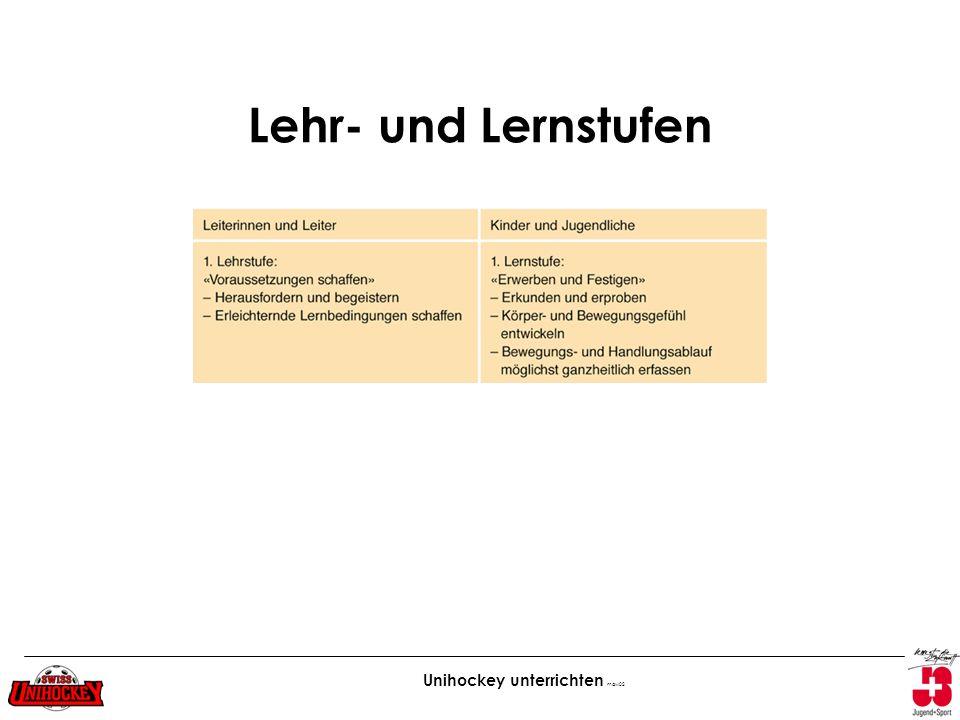 Lehr- und Lernstufen