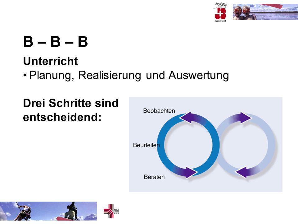 B – B – B Unterricht • Planung, Realisierung und Auswertung