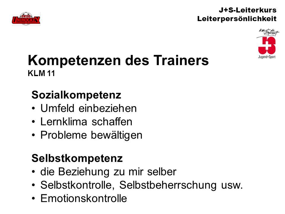 Kompetenzen des Trainers