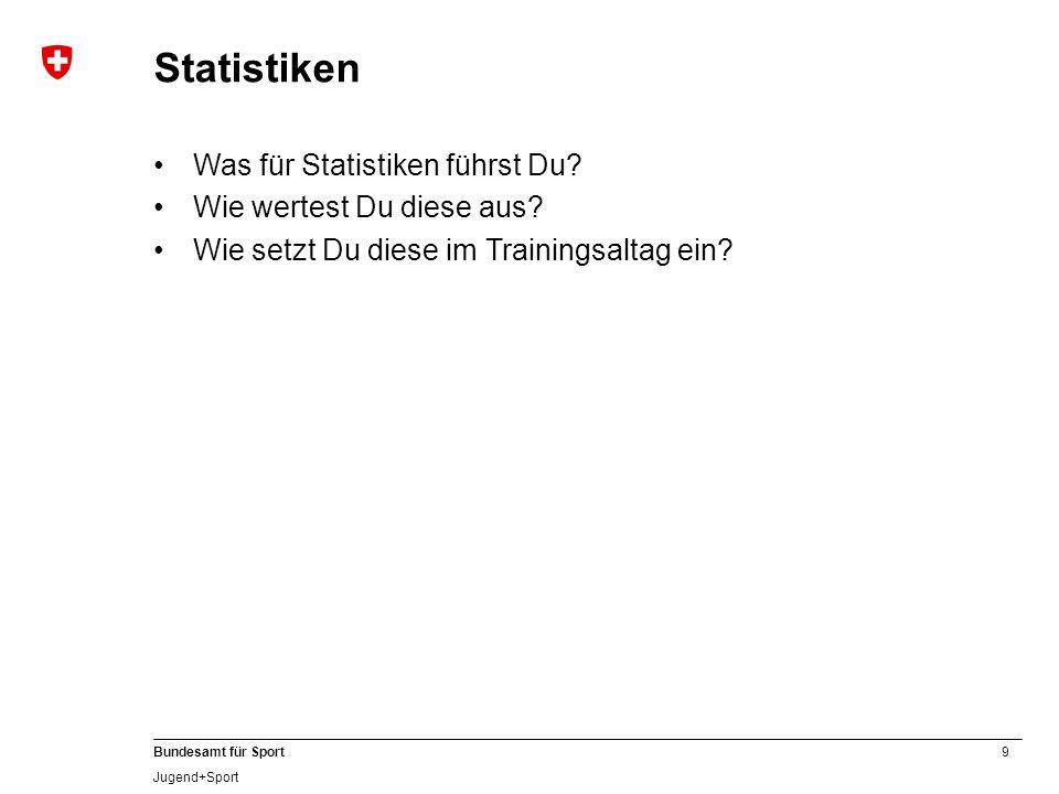 Statistiken Was für Statistiken führst Du Wie wertest Du diese aus