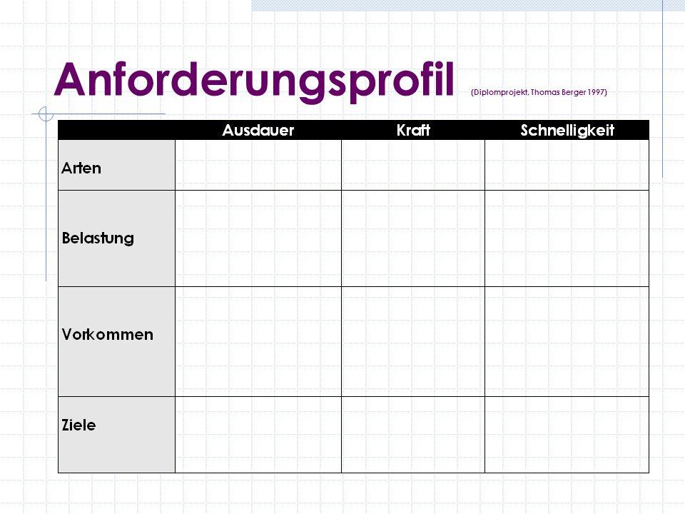 Anforderungsprofil (Diplomprojekt, Thomas Berger 1997)
