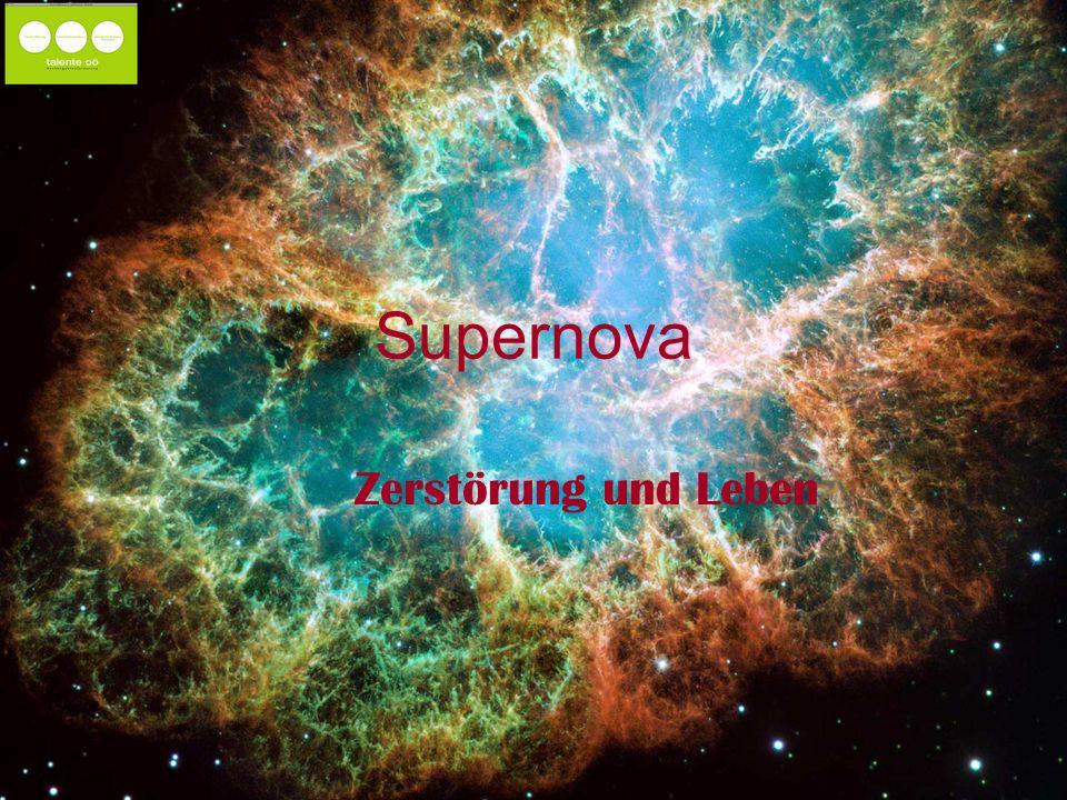 Supernova Zerstörung und Leben