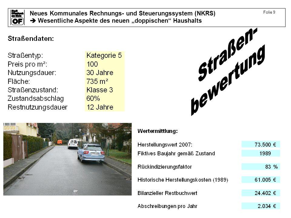 Folie 9 Straßen- bewertung