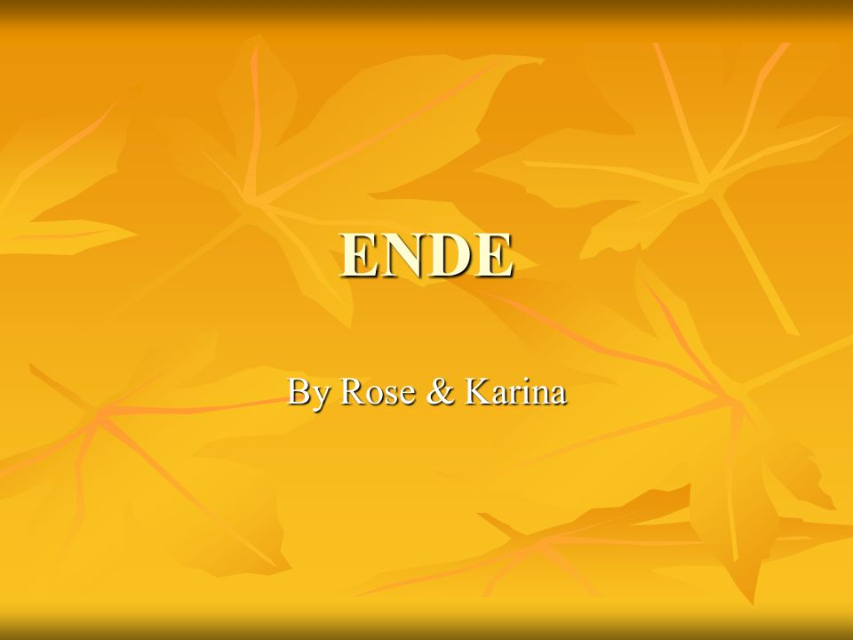 ENDE By Rose & Karina