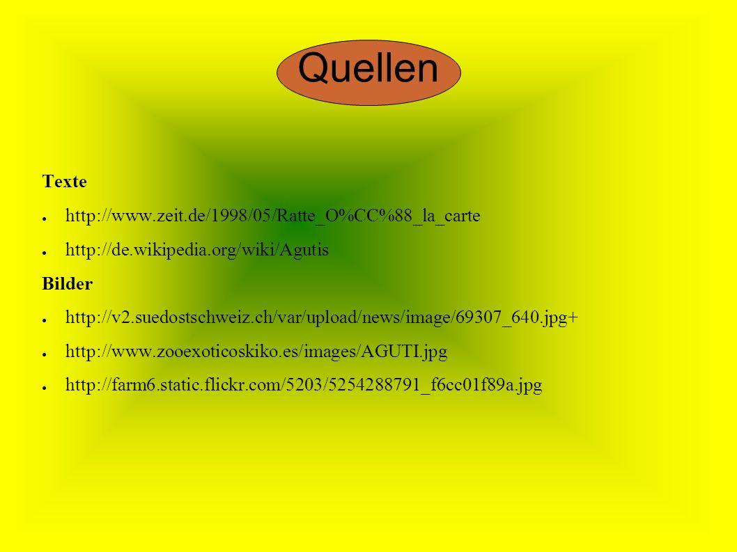 Quellen Texte http://www.zeit.de/1998/05/Ratte_O%CC%88_la_carte