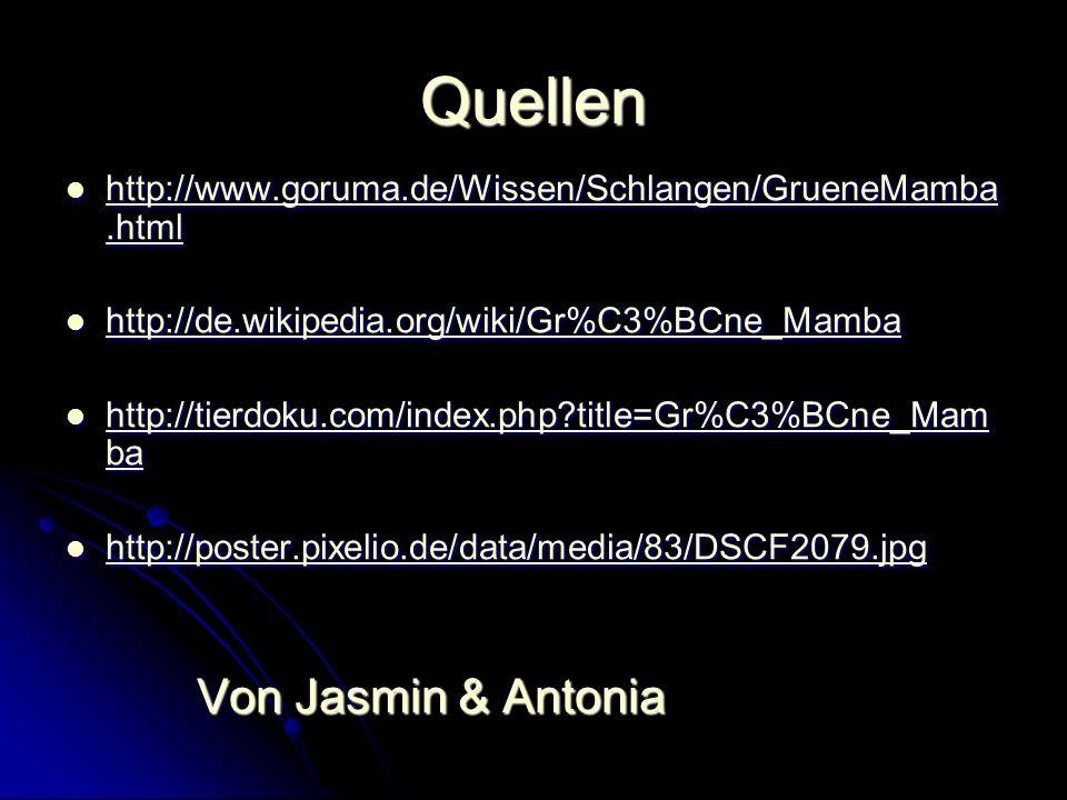 Quellen Von Jasmin & Antonia