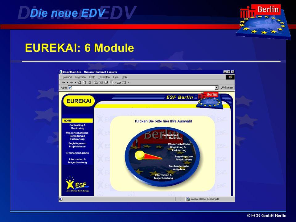 Die neue EDV Die neue EDV EUREKA!: 6 Module © ECG GmbH Berlin