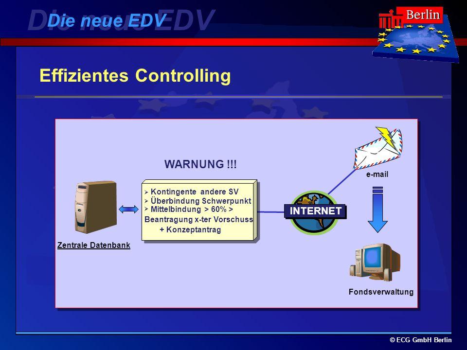 Die neue EDV Die neue EDV Effizientes Controlling WARNUNG !!! INTERNET