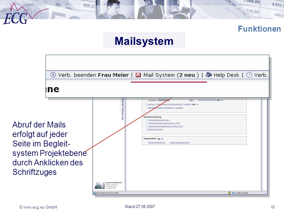 Mailsystem Funktionen