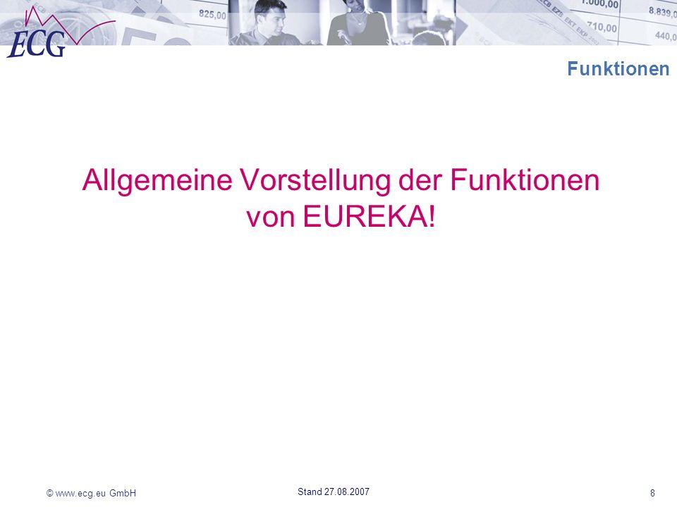 Allgemeine Vorstellung der Funktionen von EUREKA!