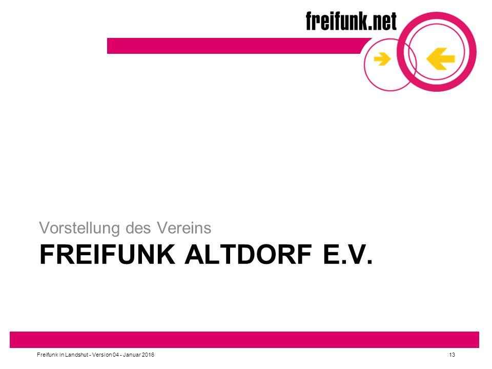 Freifunk Altdorf e.V. Vorstellung des Vereins