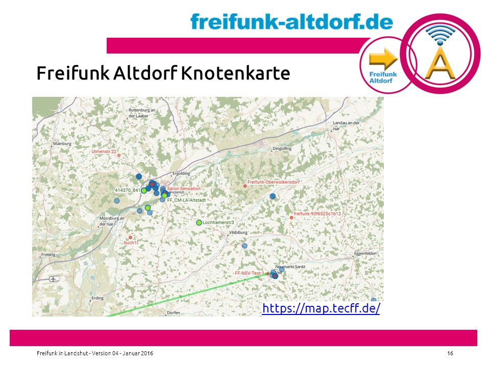 Freifunk Altdorf Knotenkarte