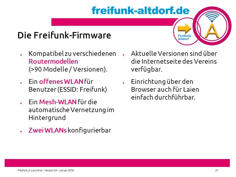 Die Freifunk-Firmware