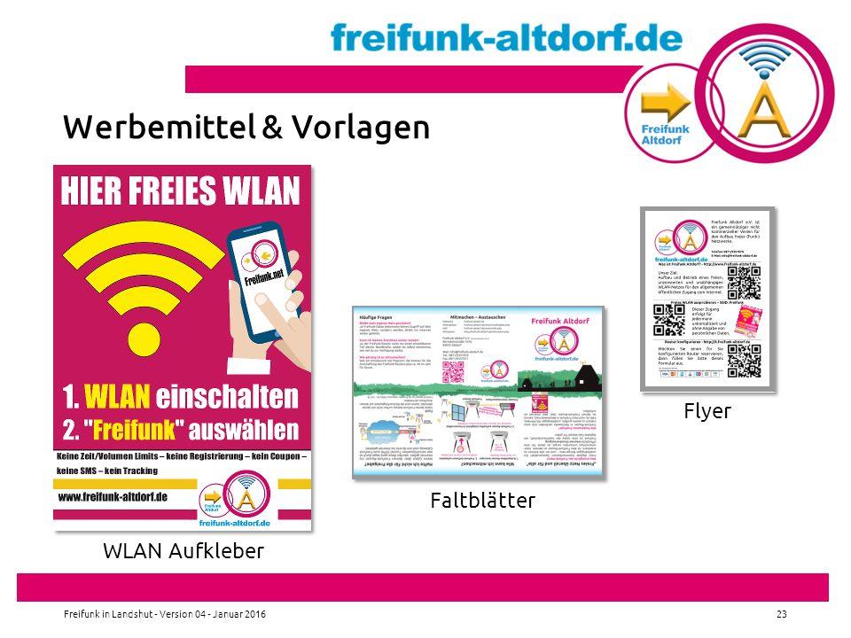 Werbemittel & Vorlagen