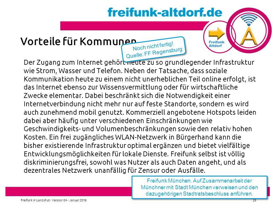 Vorteile für Kommunen Noch nicht fertig! Quelle: FF Regensburg.
