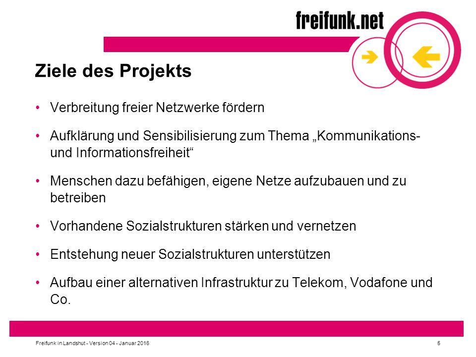 Ziele des Projekts Verbreitung freier Netzwerke fördern